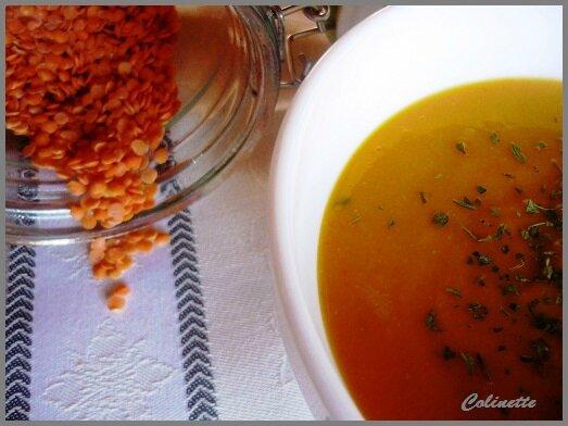 soupe potimarron et lentilles corail 01