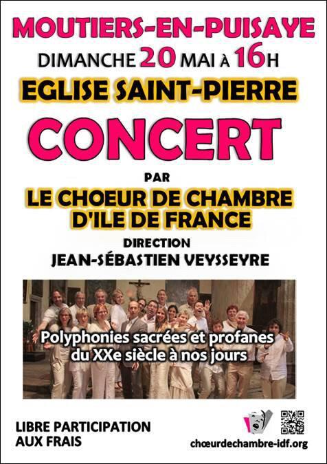 Dimanche 20 Mai, concert à Moutiers...