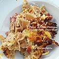 Pâtes jambon-fromage, béchamel de chou-fleur