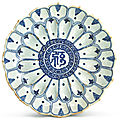 A fine blue and white 'lotus' dish, ming dynasty, wanli period (1573-1620)
