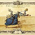 Compiegne, tournoi de chevalerie de 1238 données par le roi saint louis et reconstitué à l'occasion des fêtes de jeanne d'arc