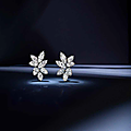 A pair of diamond earrings, harry winston, 1982
