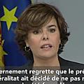 Catalogne : la réponse de puigdemont ne satisfait pas madrid
