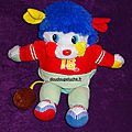 Doudou popples ballon de rugby 1986 envoi possible, www.doudoupeluche.fr