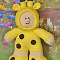 Giraffe boy - knitting by post