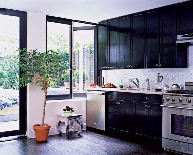 Black Kitchen Elle Decor