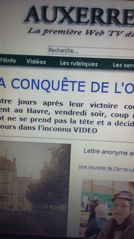 Sur Auxerre Tv, un texte de C.-L. Desguin, Lettre anonyme au château