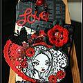 Un tag noir et rouge...
