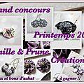 Vanille & prune créations vous propose son grand concours de printemps 2013