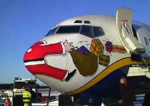 Père Noël avion