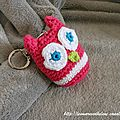The serial crocheteuses n°163 porte-clé hibou