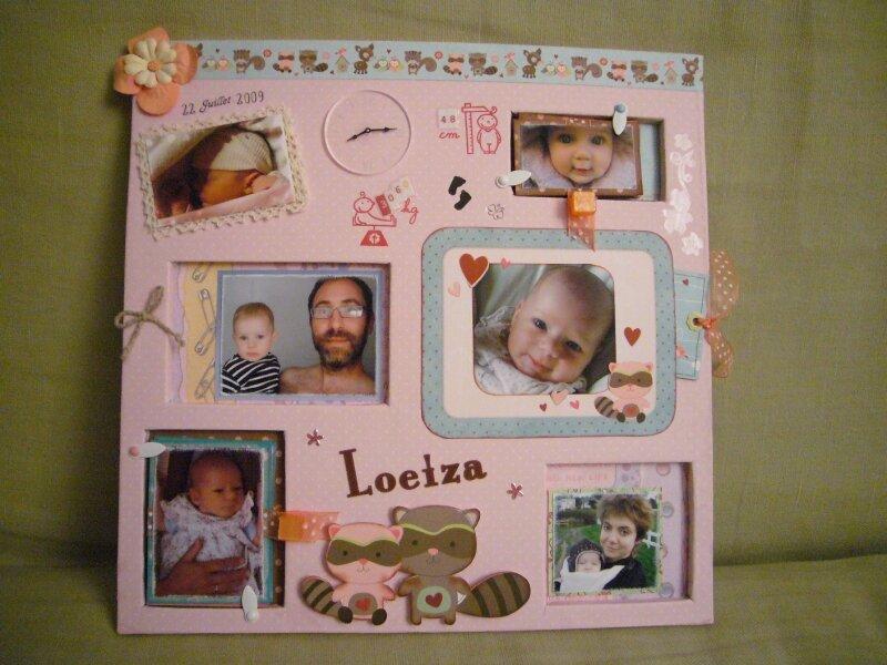 Tableau pour Loeiza sur carton plume