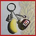 Porte-clefs pot Nutella et banane (N)