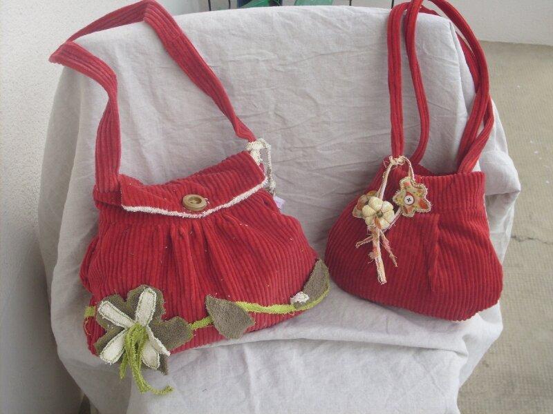 sacs velours rouge, encore...
