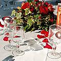 Centre de table/mariage Sandra et Yoann