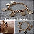Plaqué or bracelet petites mailles rondes