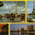 Place de la concorde, l'obélisque de Louqsor, la Seine et la Tour Eiffel, L'avenue des champs Elysées et l'Arc de Triomphe