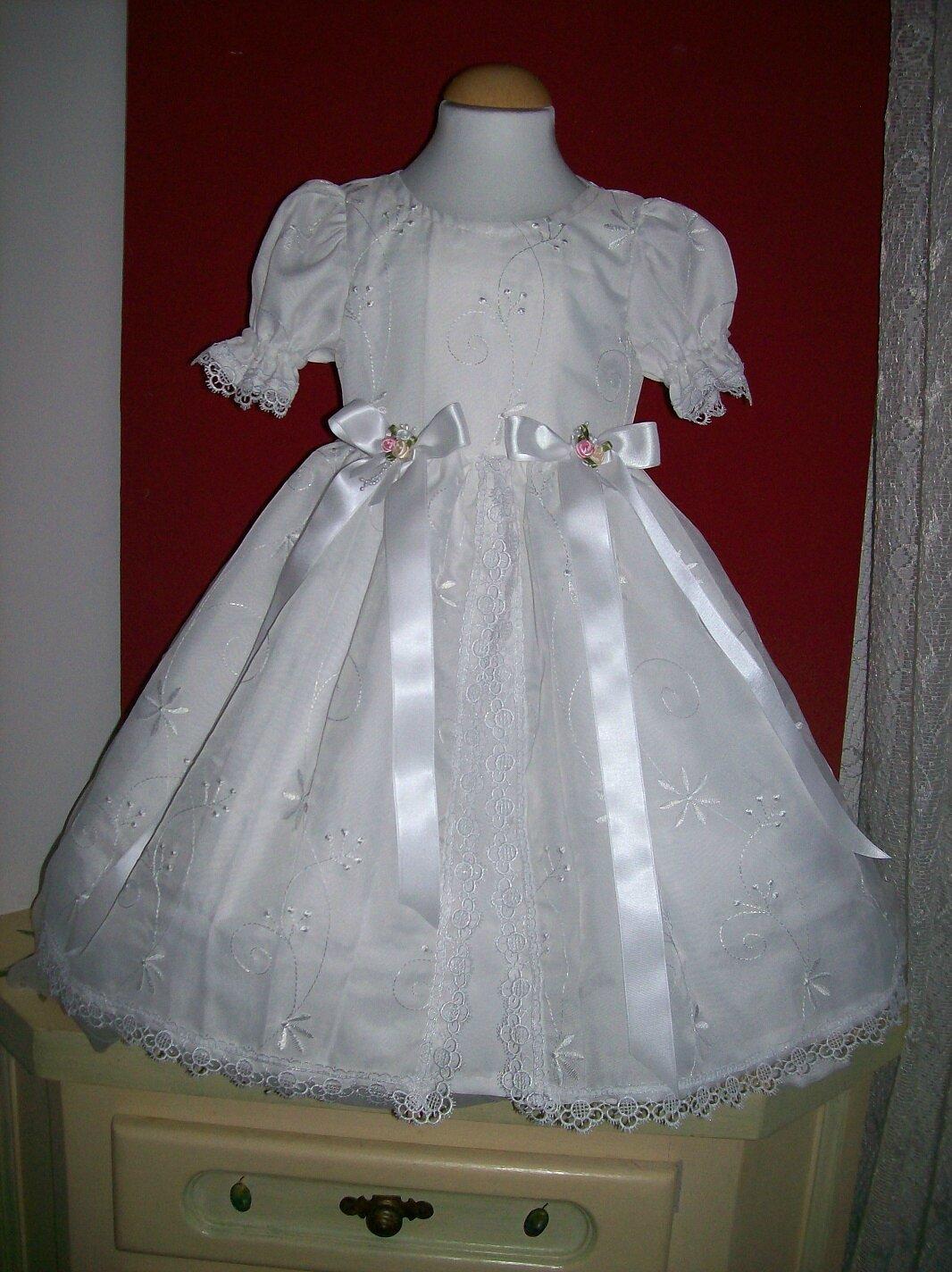 465c4bd8e26ce Robe de Bapteme ou ceremonie blanche - Mamy créative - Couture pour ...