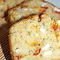Cake tomate , fêta et basilic + partenaire