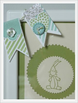 cadre lapin stampin up