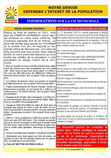 INFORMATIONS MUNICIPALES PAGE 1