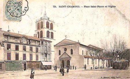 place St-Pierre et église 1907
