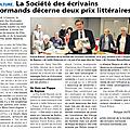 Lisieux: la société des écrivains normands remet ses prix littéraires