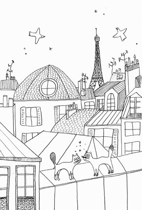 Paris+chats-crayon