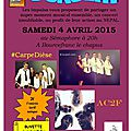Concert le 4 avril 2015