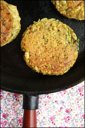 galette millet courgette