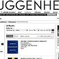 Catalogues du guggenhein consultable gratuitement sur internet