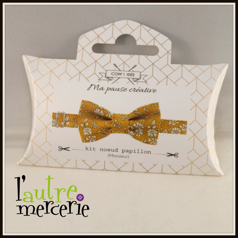 noeud papillon liberty capel moutarde