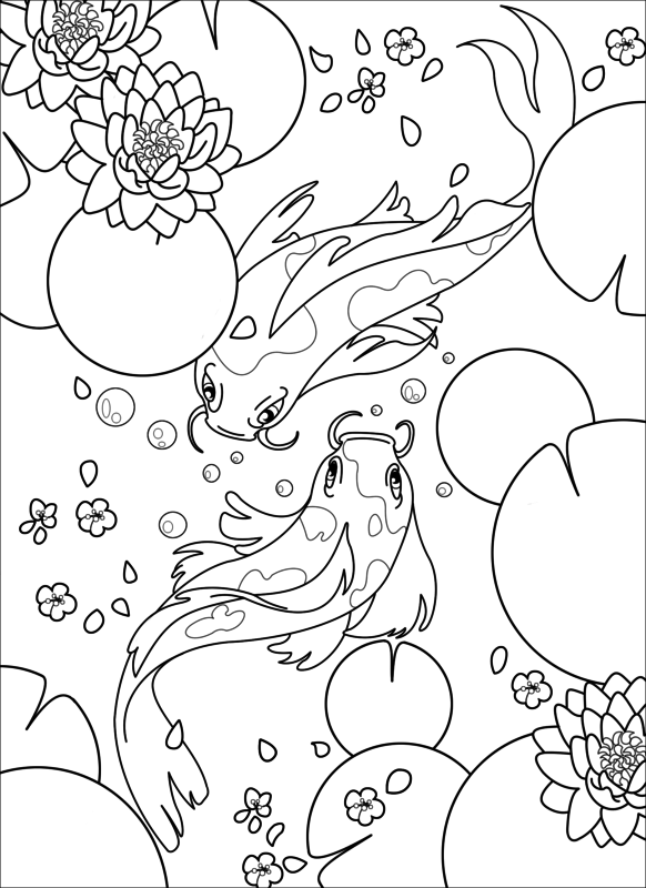 carpe_koi_coloriage