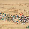An imperial battle painting commemorating the campaign victories in the northwestern region, 1862-1877, qing dynasty, guangxu