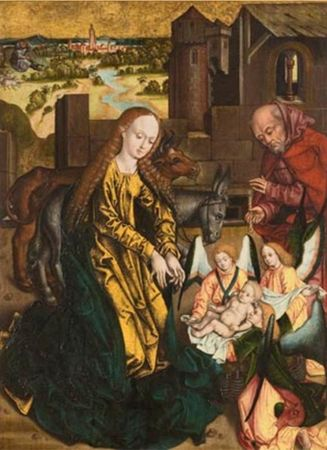 Austrian_Master__The_Nativity__about_1480