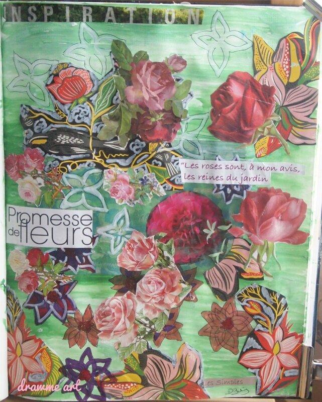 challenge art journal fleurs domi boisseau drawme art1
