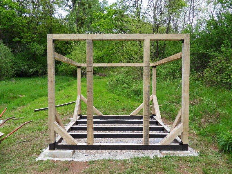 Ossature - Photo de L\'abri de jardin - Bienvenue sur étang et chalet