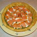 Tarte saumon pesto entrée froide