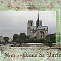 Notre dame de paris 850 ans scrap scrapbooking digital