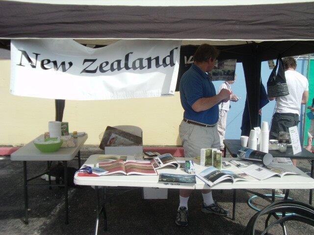Le stand de la Nouvelle-Zelande...