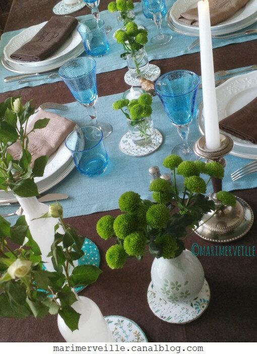 déco de table ©marimerveille - créations galettes herbes folles