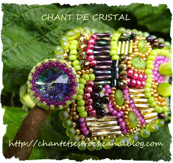 bracelet inspiré du Rocking' Wavy Cuff de Sherry Serafini's bouton fermoir 2