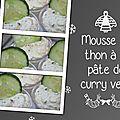 Mousse de thon à la pâte de curry vert