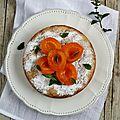 Gâteau moelleux aux abricots parfumé à la menthe