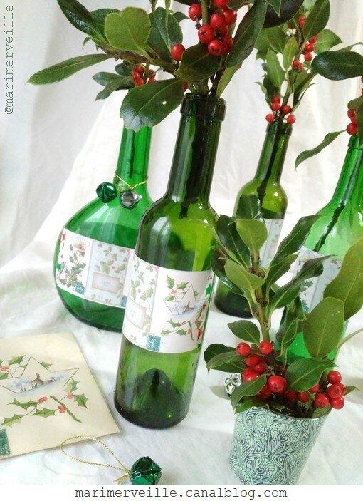 Composition bouteilles de Noël vintage - Marimerveille