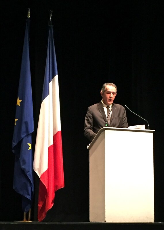 LAON 2015 MAL REUNION MAIRES intervention Raymond Le Deun pupitre