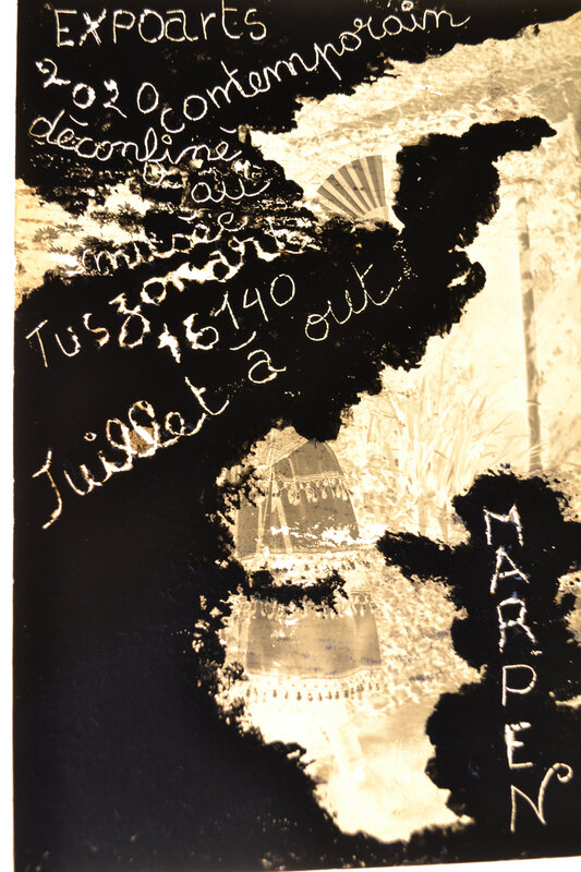 expo art contemporain Charente aquitaine juillet 2020/ à 2100 nous