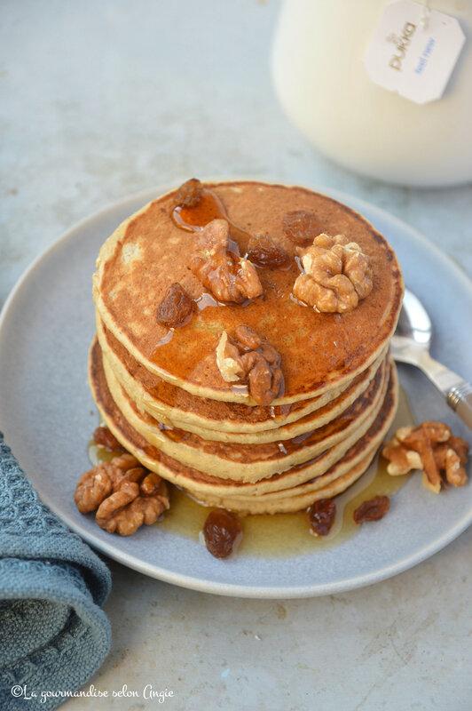 pancakes express banane avoine microbiote vegan sans gluten (1)
