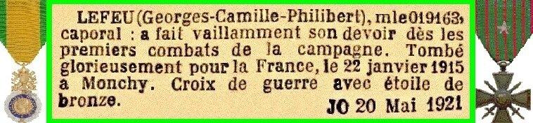 LEFEU Georges CP