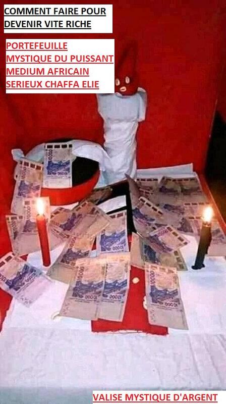 PORTE MONNAIE MAGIQUE DU GRAND MARABOUT AFRICAIN SERIEUX CHAFFA ELIE: porte monnaie magique